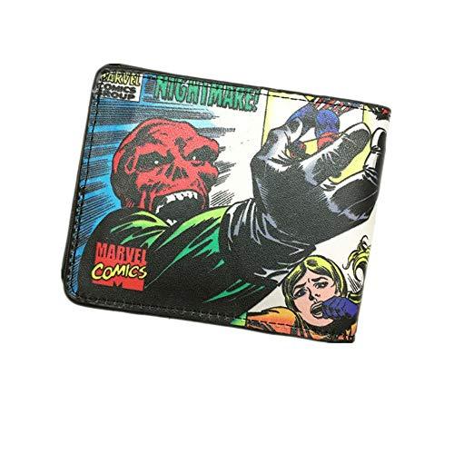 SWVV Marvel-Comics Cosplay Der Marvel-Held X Mann/Captain America/Spiderman Wallet Students Dünner Geldbeutel Dollar-Preis C