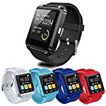 Ainstsk Bluetooth Smart Watch Sport U8 Smartwatch Wrist Fitness Tracker Bracelet With Pedometer Music Player Call Reminder Remote Camera For IOS And Android Samsung Galaxy
