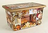 Rollenbox mit Klappdeckel - Motiv: Weihnachten - Ideal zur Aufbewahrung von Weihnachtsschmuck
