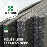 LASTRA ESPANSO NERO 120 X 200 CM SPESSORE 50 MM