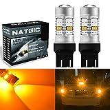NGCAT 1800Lumen 10SMD 3020CREE 74437444NA 74407440NA 7441992LED-Leuchtmittel für Autos, ein Leuchtmittel Schwanz Bremse Stop LEDs, DC 12–16V (2-pack),Gelb
