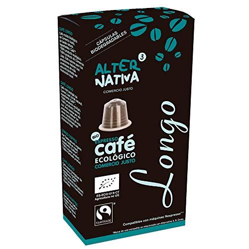 AlterNativa3 Lungo - 10 aluminiumfreie & kompostierbare Bio-Kaffeekapseln, Nespresso® kompatibel