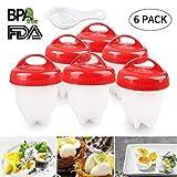 Egg Boiler 6er Multifunktionale Eierkocher Eggies Set Formen mit Eierseparator, FDA Antihaft-Silikon