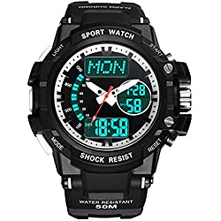 Multifunction Watches/Youth waterproof watch/With Luminescent sport watch-E