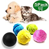 XUNKE Magic Roller Ball Juguete automático Bola de Bolas mágicas para Perro Gato Mascota de Juguete, Casa de Microfibra fregona Bola (Color Random)