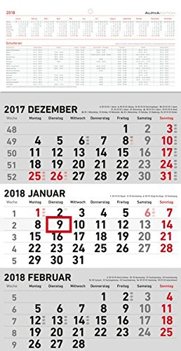 3-Monatskalender 2018 klein