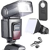 Neewer TT560 Flash Speedlite Kit pour pour Canon Nikon Sony Pentax SLR Reflex Numérique DSLR avec Sabot Standard Comprennant: (1)TT560 Speedlite + (1)Télécommande +(1)Diffuseur Flash Pliable Universel+(1)Porte-Bouchon