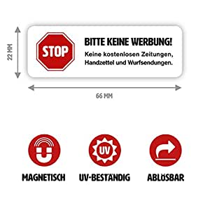 magnet schild bitte keine werbung in wei f r ihren. Black Bedroom Furniture Sets. Home Design Ideas