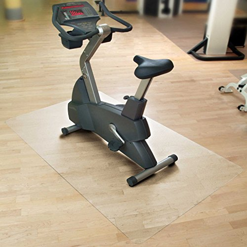 casa pura Bodenmatte/Unterlegmatte für Heimtrainer, Ergometer, Crosstrainer und andere Fitnessgeräte - transparent - 120x134cm