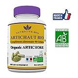 Artichaut Bio - 90 gélules -Nutricite Bio- Detox naturel - 100% Bio et Fabriqué en France -OFFERT: Facture+Notice d'utilisation PDF- Artichaut bio minceur pour activer le transit et protéger le foie