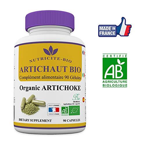 Artischocke Bio - 90 Kapseln - Nutricite Bio- Natürliche Entgiftung - 100% biologisch und Made in France (Bevorzugt Masse Der In)
