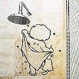 YSFU Türaufkleber Weihnachten Dusche Glastür Aufkleber Kinder Baden Wandaufkleber Nette Wasserdichte Abnehmbare für Baby Badezimmer Dekor Aufkleber Wandkunst Aufkleber