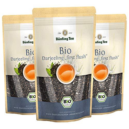 "Bünting Tee Bio Darjeeling""first flush"", 100g loser Tee, 3er Pack"