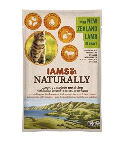 Iams Cibo Umido per Gatti Adulti Naturally New Zealand Lamb in Gravy - 85 gr