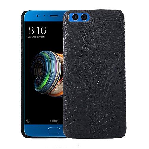 YHUISEN Xiaomi Mi Note3 Fall, Luxuxklassisches Krokodil-Haut-Muster [ultra dünnes] PU-Leder kratzfest PC schützende harte Fall-Abdeckung für Xiaomi Mi Note3 / Mi Anmerkung 3 ( Color : White ) Black