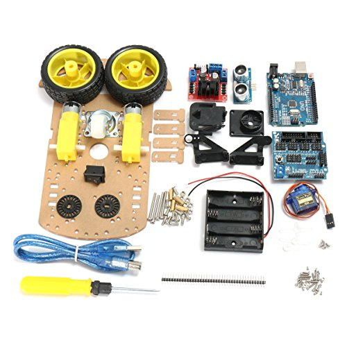 Bluelover Diy L298N 2Wd Ultraschall Smart Tracking Moteur Roboter Auto Kit Für Arduino