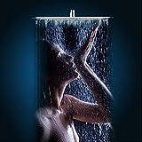 Soffione Doccia a Pioggia Ultra-Sottile Piazza con Anticalcare in Acciaio Inox,16 pollici/20 pollici (50cm x 50cm)