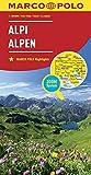 Alpy mapa: MARCO POLO Länderkarte Alpen 1:800 000: Wegenkaart 1:800 000 (MARCO POLO Länderkarten) - Collectif
