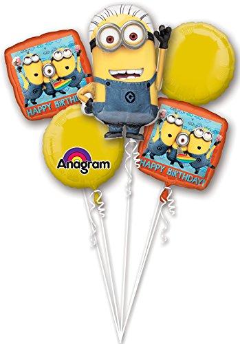 Amscan 5 Folienballons Minions Ich einfach unverbesserlich ()