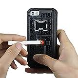 Hülle für iPhone 5, Xidan FM8 Multifunktionale Handyhülle mit Zigarettenanzünder, eingebauter Zigarettenanzünder, Flaschenöffner, Hülle mit Kamera Stativ für iPhone 5 5S/SE