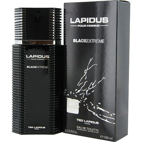 Lapidus pour homme Black Extreme Eau de toilette vaporisateur100ml