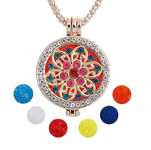 Lovelegis Kette für Frauen - Damen Halskette - Diffusor - Aromatherapie - Elnath - Parfüm - Aroma - Ätherisches öl - Mandala -
