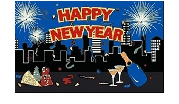 Flagge Happy New Year Silvester 90 x 150 cm Fahne