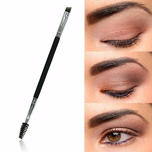 Internet 1PCS Maquillage bambou poignée Double Sourcils Brosse + peigne sourcils