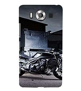 PrintVisa Sports Bike Design 3D Hard Polycarbonate Designer Back Case Cover for Nokia Lumia 950