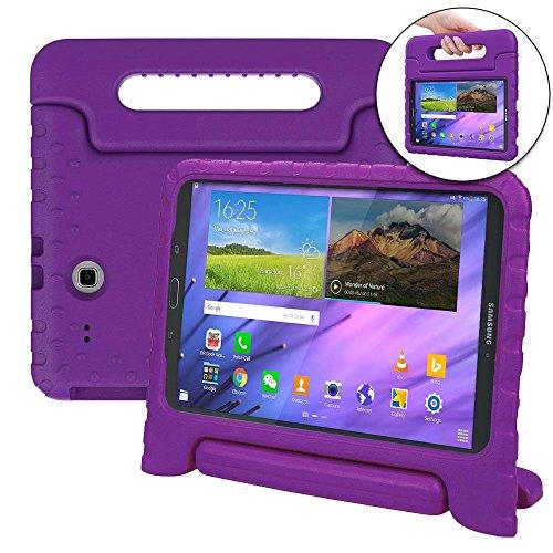 Samsung Galaxy Tab E 8.0 Hülle, [2-in-1 Griffige Tragehülle & Stand] COOPER DYNAMO Robuste Strapazierfähige Sturz- und Kindersichere Hülle + Stand & Displayschutz -Jungs Mädchen Erwachsene Ältere Violett