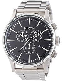 Nixon Herren-Armbanduhr XL Chronograph Quarz Edelstahl A386000-00