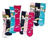 Kinder Socken 6 Paar Jungen oder Mädchen,Schadstoffgeprüfte Textilien nach Öko-Tex Standard 100 (31/34, Einhorn)