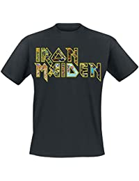 Iron Maiden Eddies Logo Camiseta Negro