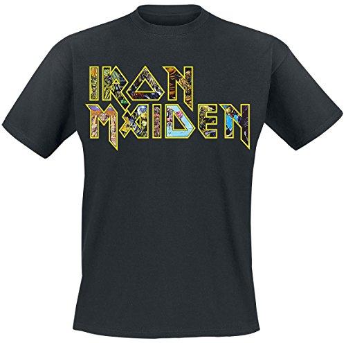Iron Maiden Eddies Logo Camiseta Negro L