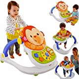 Fisher Price 4in1 Monkey Entertainer Infant Baby Activity Play Feeding Seat Walker Chair