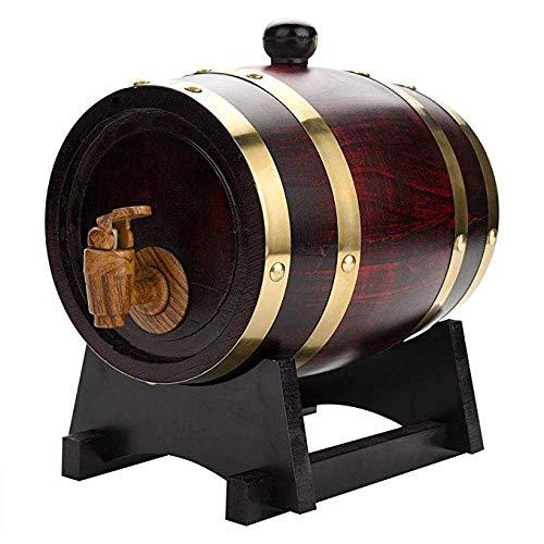 CHENG Eichenfass, Whisky fass, Aging Eichenfass, mit Holzständer, weinfass, zum Aufbewahren von Whiskey, Bier, Wein, Bourbon, Brandy, scharfer Sauce & mehr 1.5L/3L/5L/10L 3L - 5-liter-eichenfass