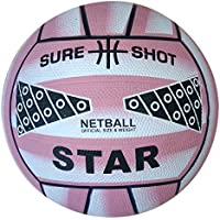 Sure Shot - Balón de netball, color rosa rosa rosa Talla:5