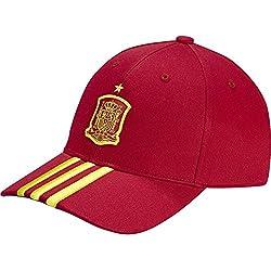 adidas Federación Española de Fútbol 3S Cap - Gorra unisex, color rojo, talla OSFM
