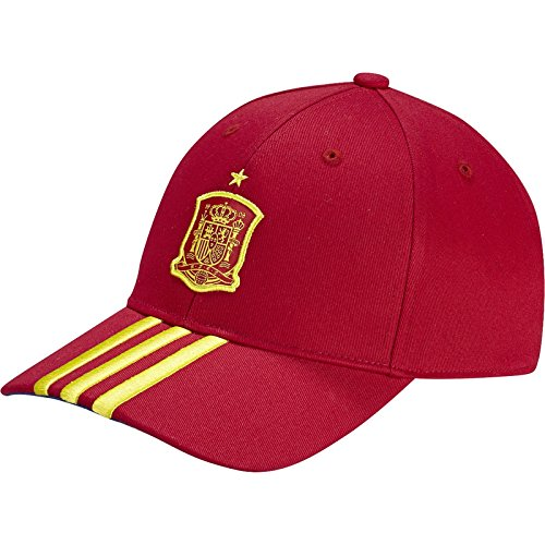 adidas Federación Española de Fútbol 3S Cap – Gorra unisex, color rojo, talla OSFM