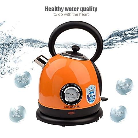 inkint 1.8L Capacidad Hervidor de Agua Electrico (Potencia 1850W-2200W/Base Giratoria de 360 Grados/El Sistema Inteligente de Control de Temperatura/Diseño de la Cubierta de Polvo de la Caldera/El Agarre