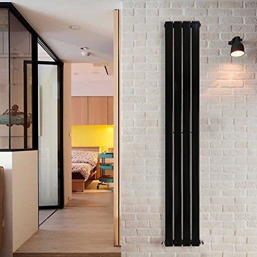 Nrg Radiator Vertikal Single Flat Panel Design U2013 Heizkörper 1800 X 272 Mm  Schwarz Spalte