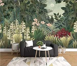 Papier Peint 3D Chambre Salon Une Végétation Tropicale Nordiques En Toile De Fond Moderne Intissé Décoration Murale