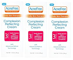 AcneFree Daily Skin Therapy Complexion Perfecting Cream Three Pack, for Overnight Acne Treatment with Retinol and Hyaluronic Acid