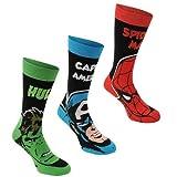 Marvel Herren Socken, 3er-Pack, elastische Baumwolle, hochwertige Marken-Socken