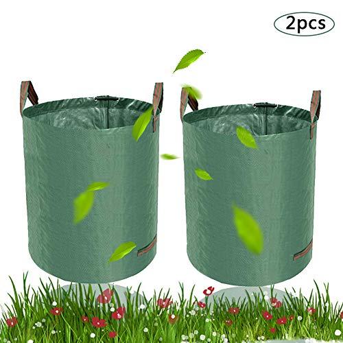 *BETOY Gartensack 2 x 60L-2 Premium Gartensäcke-Stabile Gartenabfallsäcke aus Robustem Polypropylen-Gewebe (PP) – Selbststehend und Faltbar Laubsäcke für Gartenabfälle Laub Rasen Pflanz Grünschnitt*