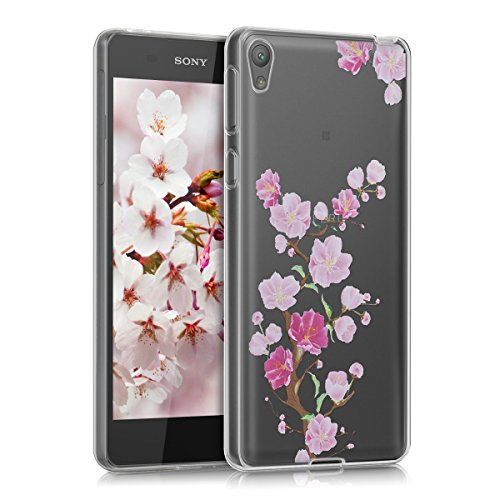 kwmobile Sony Xperia E5 Hülle - Handyhülle für Sony Xperia E5 - Handy Case in Pink Rosa Transparent