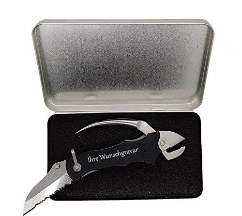 Herbertz Seglermesser mit persönlicher Gravur auf Messer und Geschenkbox