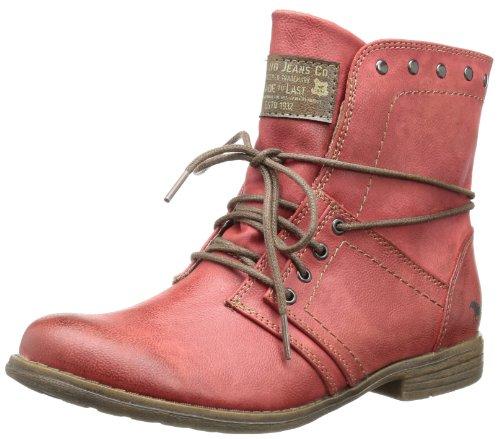 Mustang 1134-602, Damen Kurzschaft Stiefel, Rot (5 rot), 41 EU (7.5 Damen UK) (Boots Am Ankle Besten)
