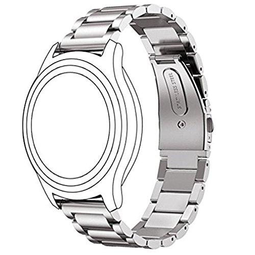 Samsung Gear S3 Classic/ Frontier Bracelet Omter SmartWatch bracelet Band inoxydable avec barrettes à ressort Acier Argent