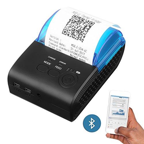 PowerLead portatile mini wireless Bluetooth 58mm stampante termica ad alta velocità diretta compatibile con Android e IOS anche come sistemi Windows e Linux ed ESC/POS set di comandi di stampa
